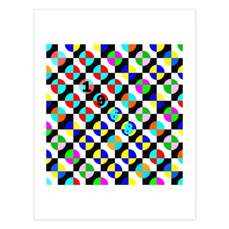 1968 POP DOTS 2 Home Fine Art Print by THE ORANGE ZEROMAX STREET COUTURE