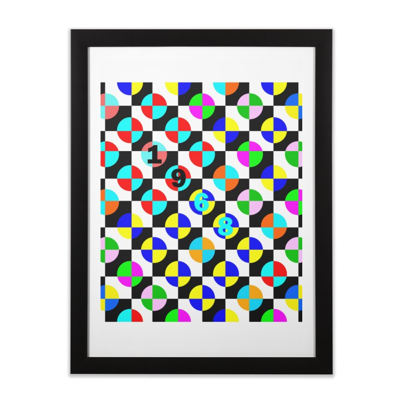 1968 POP DOTS 2 Home Framed Fine Art Print by THE ORANGE ZEROMAX STREET COUTURE