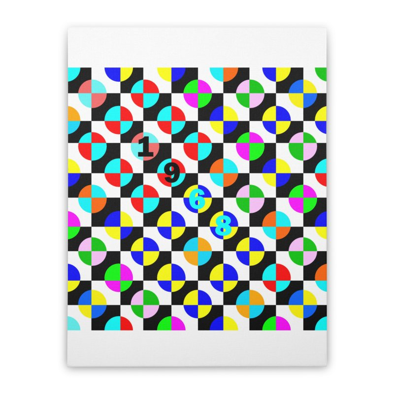 1968 POP DOTS 2 Home Stretched Canvas by THE ORANGE ZEROMAX STREET COUTURE