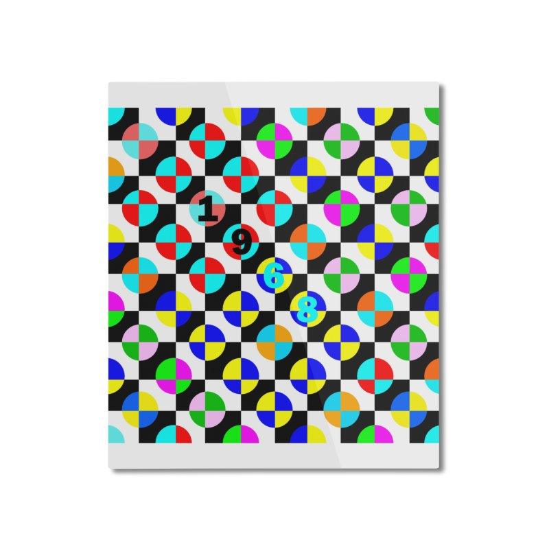 1968 POP DOTS 2 Home Mounted Aluminum Print by THE ORANGE ZEROMAX STREET COUTURE