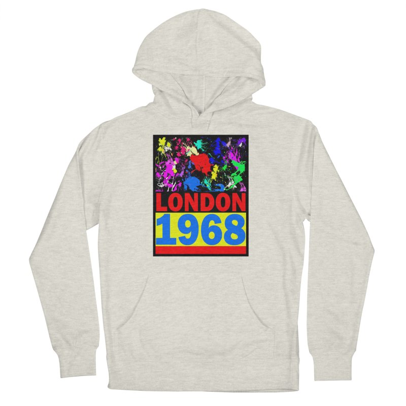 1968 LONDON 2 Women's French Terry Pullover Hoody by THE ORANGE ZEROMAX STREET COUTURE