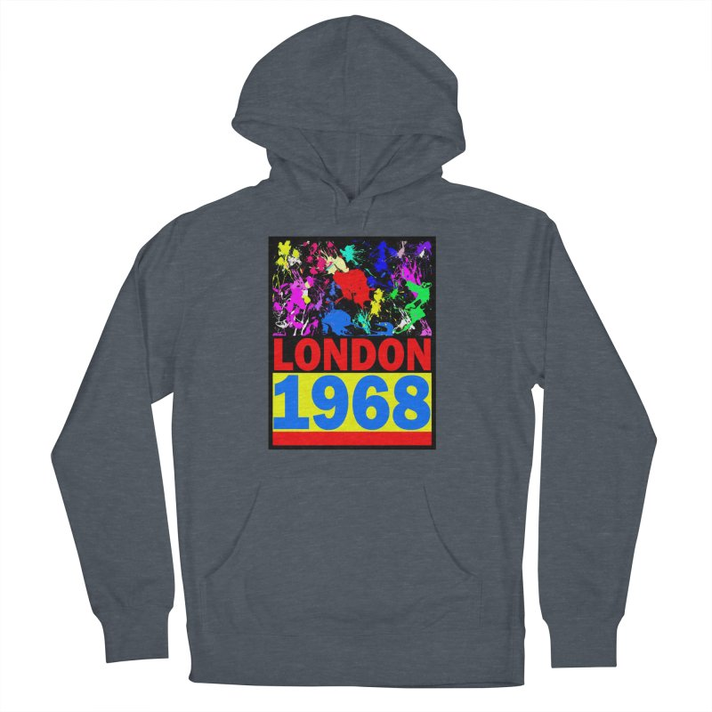 1968 LONDON 2 Men's French Terry Pullover Hoody by THE ORANGE ZEROMAX STREET COUTURE