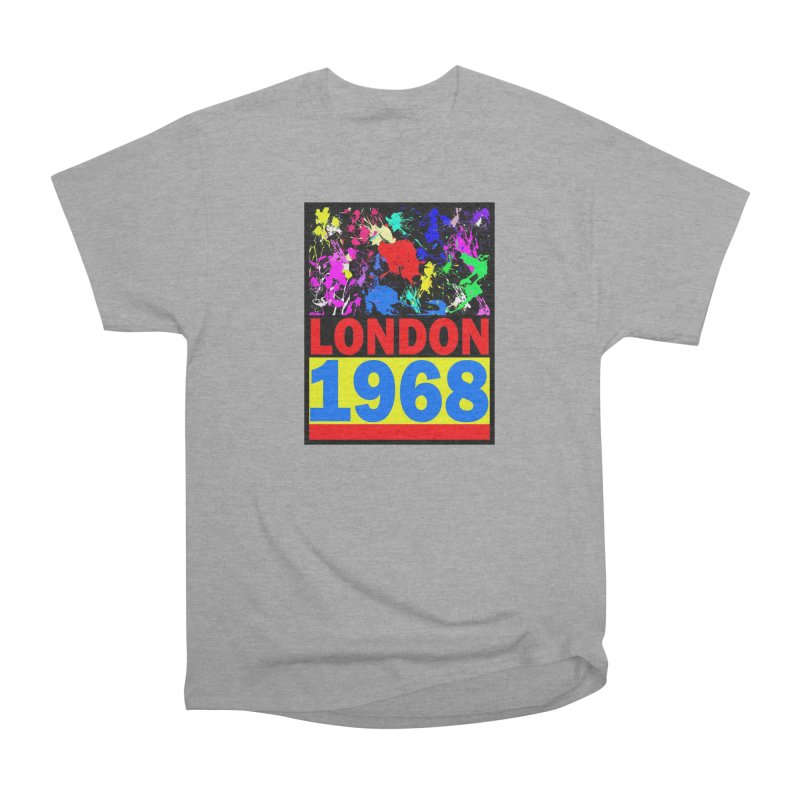 1968 LONDON 2 Women's Heavyweight Unisex T-Shirt by THE ORANGE ZEROMAX STREET COUTURE