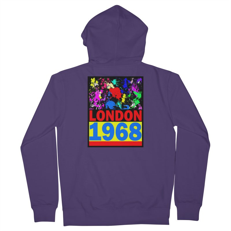 1968 LONDON 2 Women's French Terry Zip-Up Hoody by THE ORANGE ZEROMAX STREET COUTURE