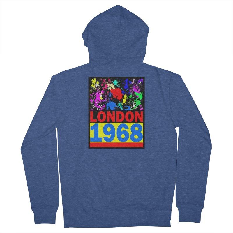 1968 LONDON 2 Men's Zip-Up Hoody by THE ORANGE ZEROMAX STREET COUTURE