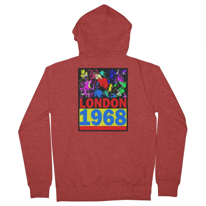 1968 LONDON 2 Men's French Terry Zip-Up Hoody by THE ORANGE ZEROMAX STREET COUTURE