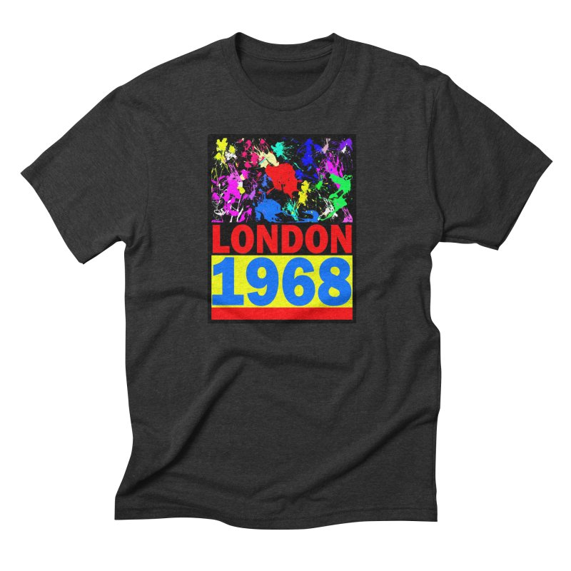 1968 LONDON 2 Men's Triblend T-Shirt by THE ORANGE ZEROMAX STREET COUTURE