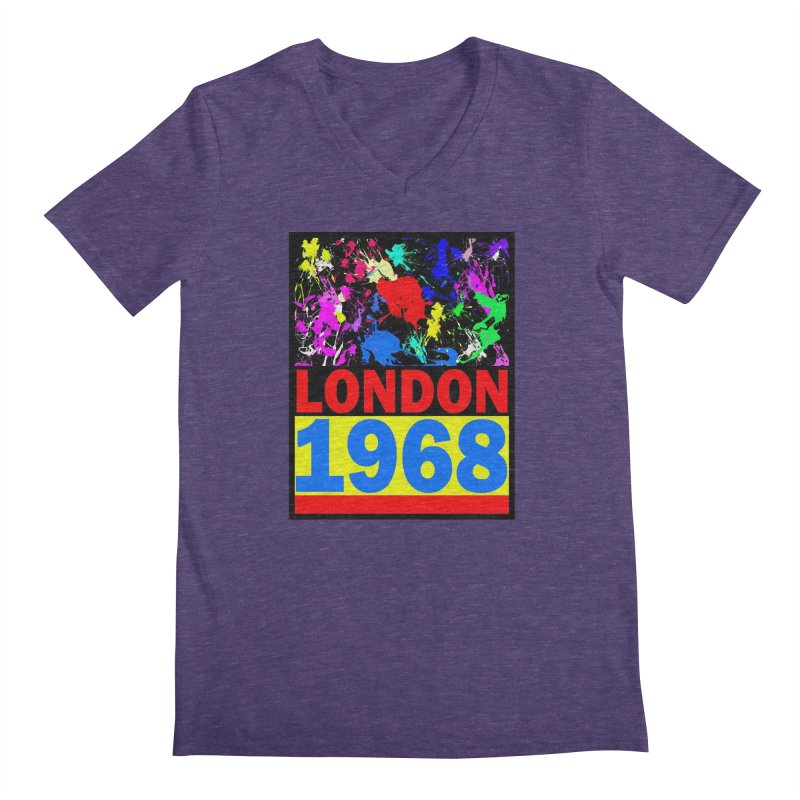 1968 LONDON 2 Men's V-Neck by THE ORANGE ZEROMAX STREET COUTURE