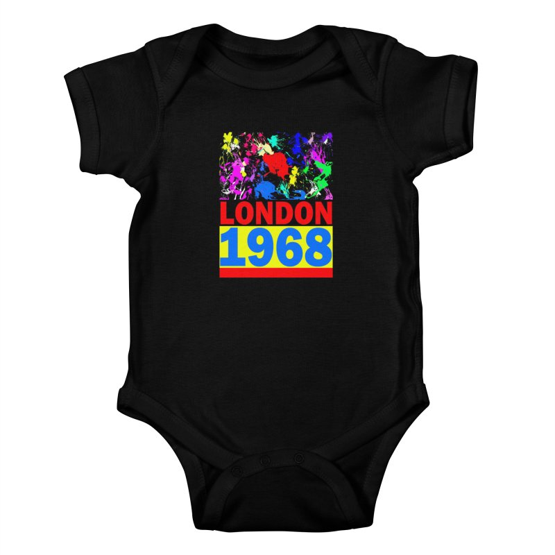 1968 LONDON 2 Kids Baby Bodysuit by THE ORANGE ZEROMAX STREET COUTURE