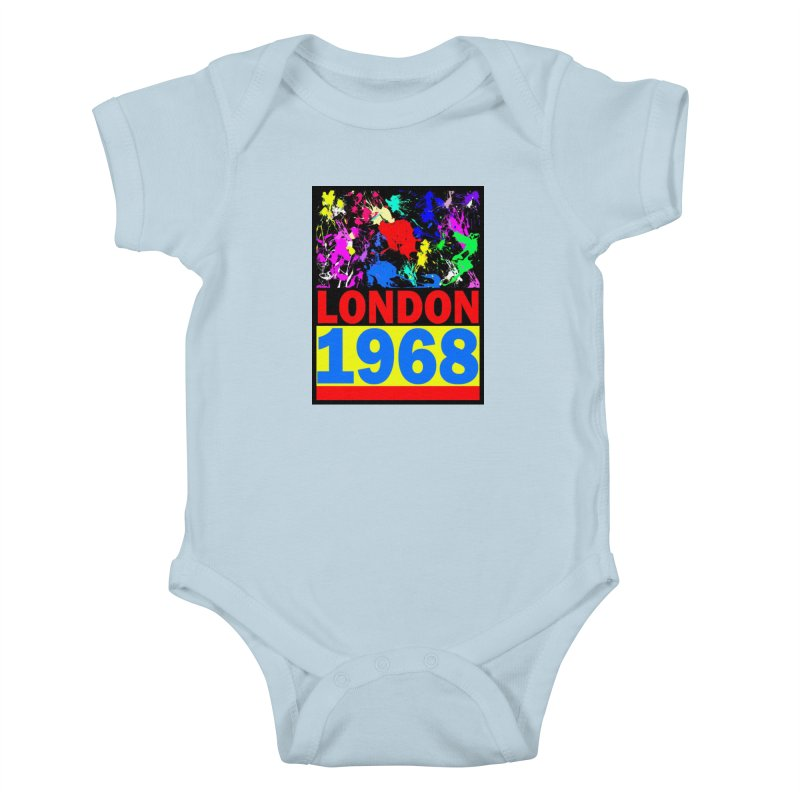 1968 LONDON 2 Kids Baby Bodysuit by THE ORANGE ZEROMAX STREET COUTURE