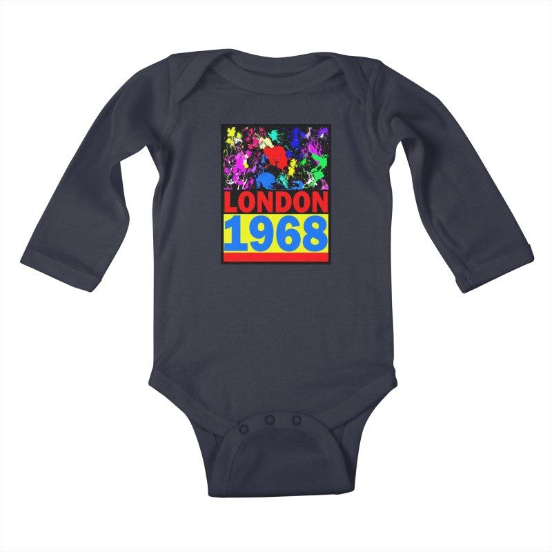 1968 LONDON 2 Kids Baby Longsleeve Bodysuit by THE ORANGE ZEROMAX STREET COUTURE