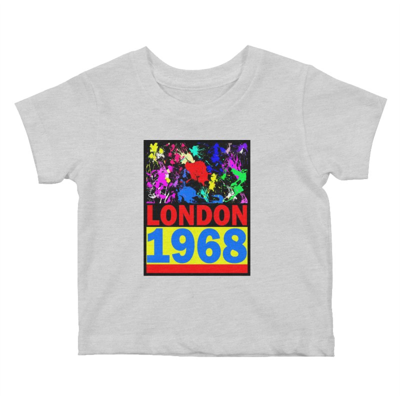 1968 LONDON 2 Kids Baby T-Shirt by THE ORANGE ZEROMAX STREET COUTURE