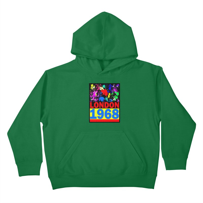 1968 LONDON 2 Kids Pullover Hoody by THE ORANGE ZEROMAX STREET COUTURE