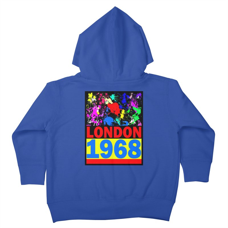 1968 LONDON 2 Kids Toddler Zip-Up Hoody by THE ORANGE ZEROMAX STREET COUTURE