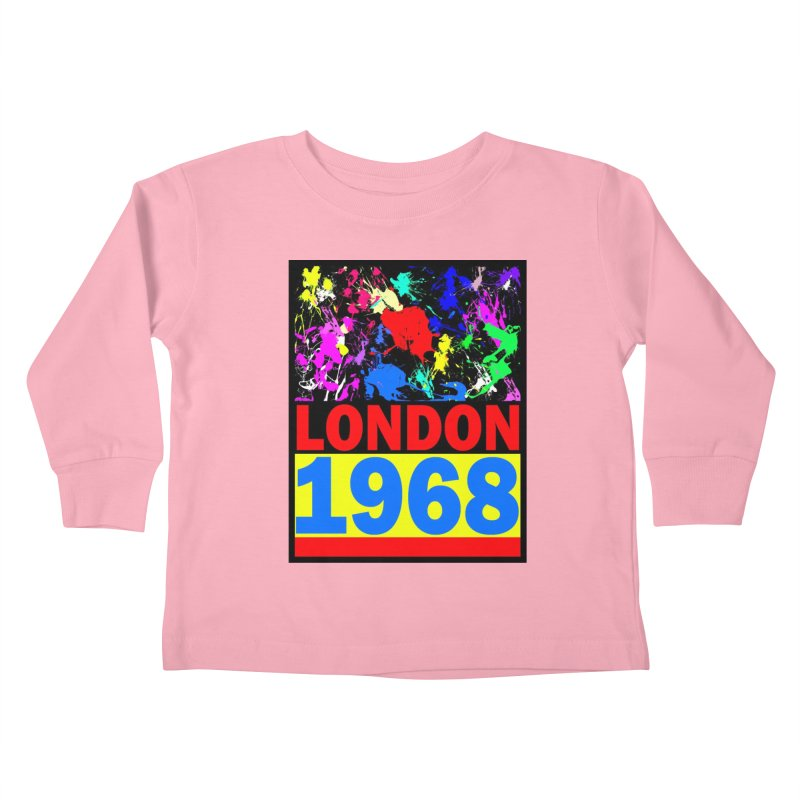 1968 LONDON 2 Kids Toddler Longsleeve T-Shirt by THE ORANGE ZEROMAX STREET COUTURE