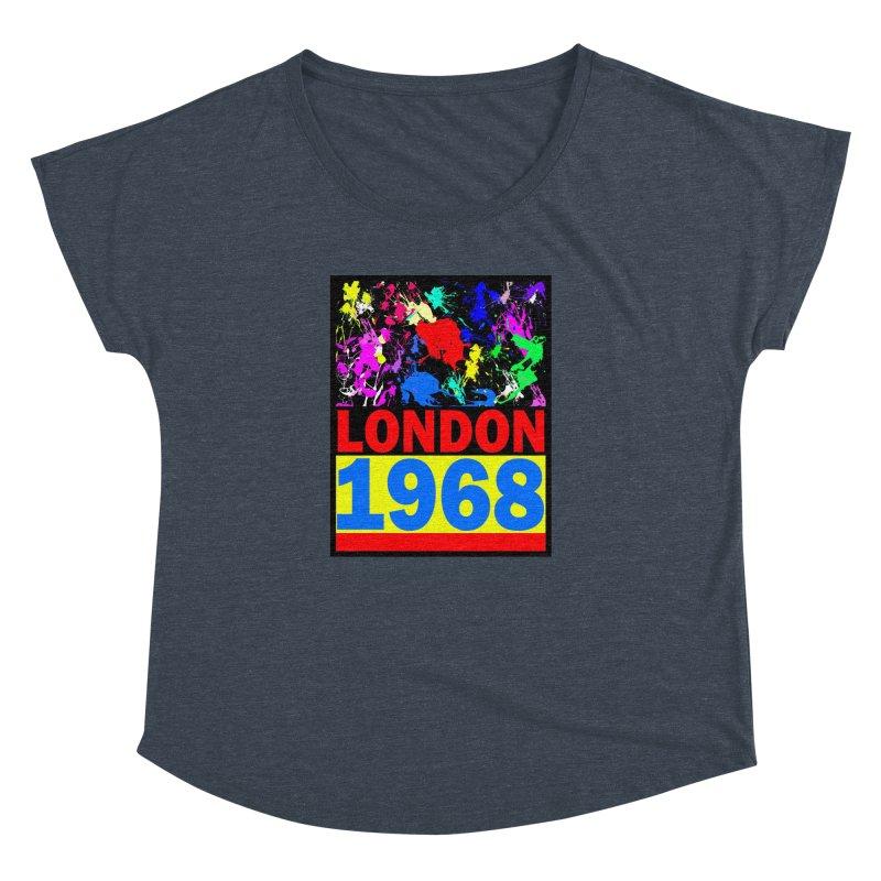1968 LONDON 2 Women's Dolman Scoop Neck by THE ORANGE ZEROMAX STREET COUTURE