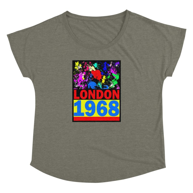 1968 LONDON 2 Women's Dolman Scoop Neck by THE ORANGE ZEROMAX STREET COUTURE