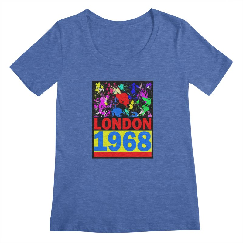 1968 LONDON 2 Women's Scoopneck by THE ORANGE ZEROMAX STREET COUTURE
