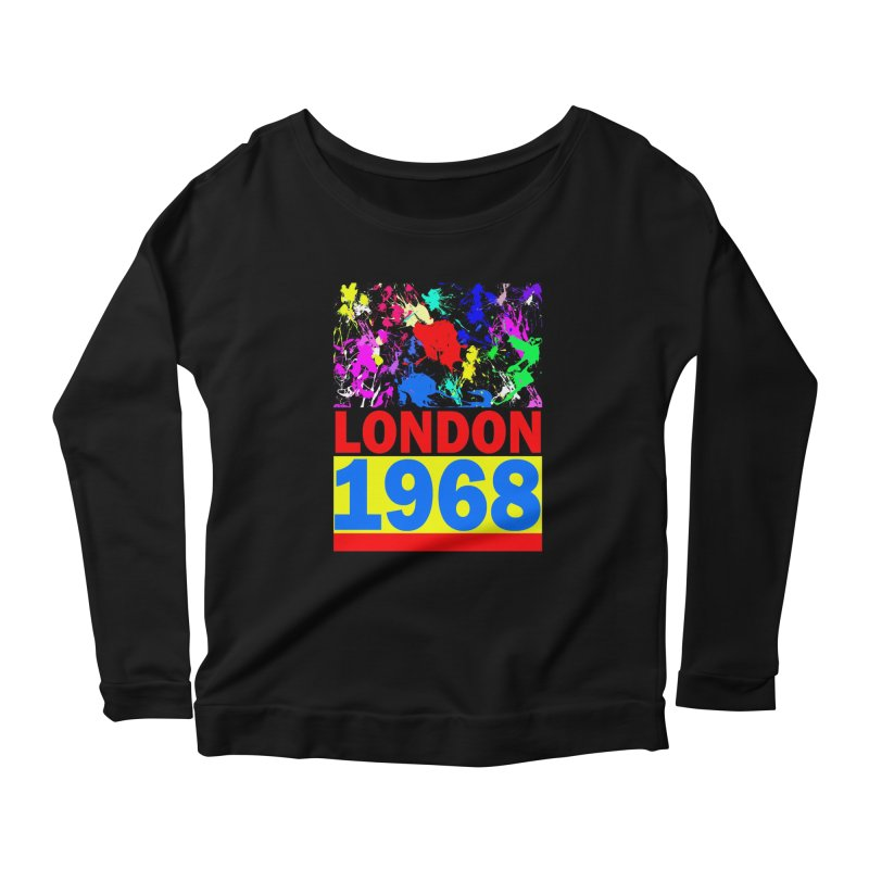 1968 LONDON 2 Women's Scoop Neck Longsleeve T-Shirt by THE ORANGE ZEROMAX STREET COUTURE