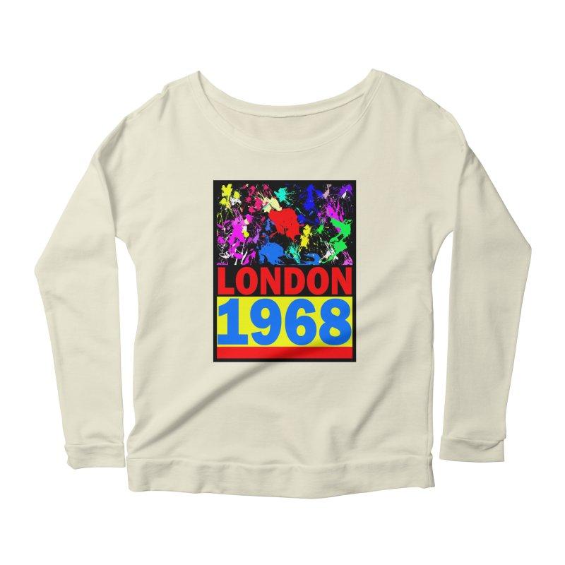 1968 LONDON 2 Women's Scoop Neck Longsleeve T-Shirt by THE ORANGE ZEROMAX STREET COUTURE