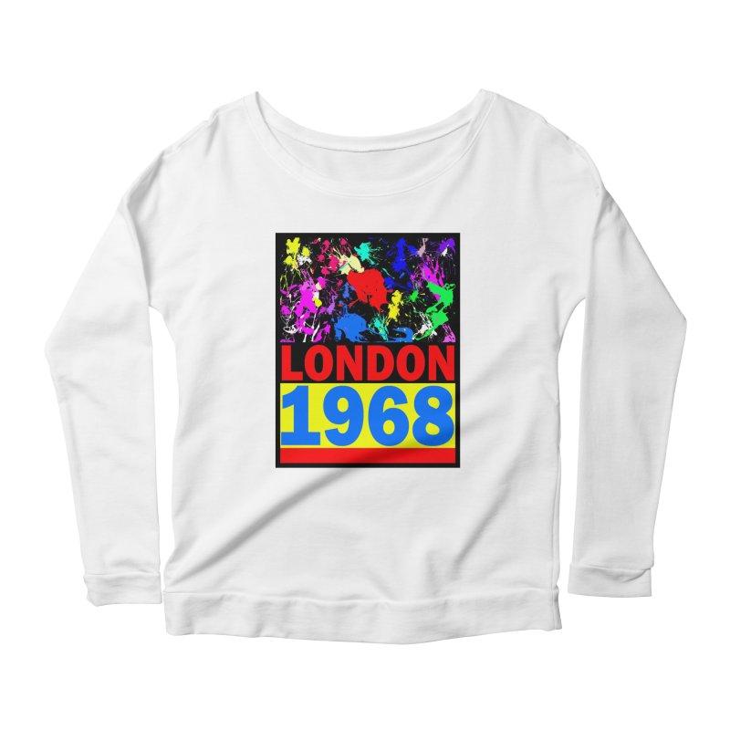 1968 LONDON 2 Women's Longsleeve Scoopneck  by THE ORANGE ZEROMAX STREET COUTURE