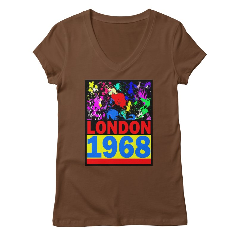 1968 LONDON 2 Women's Regular V-Neck by THE ORANGE ZEROMAX STREET COUTURE