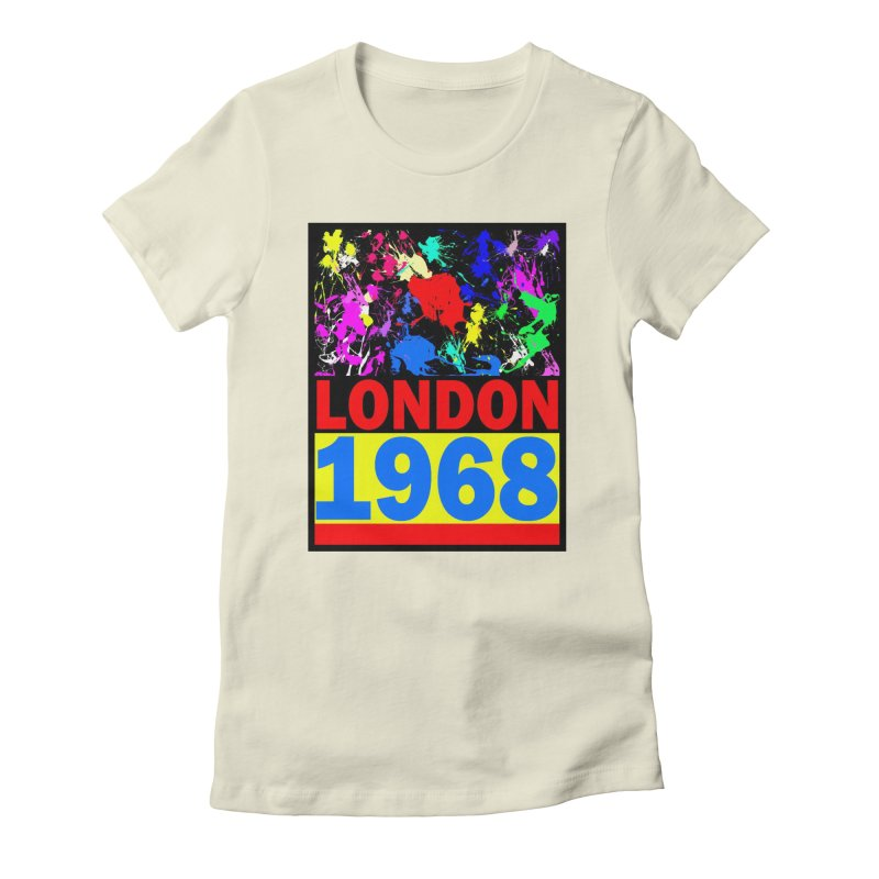 1968 LONDON 2 Women's Fitted T-Shirt by THE ORANGE ZEROMAX STREET COUTURE