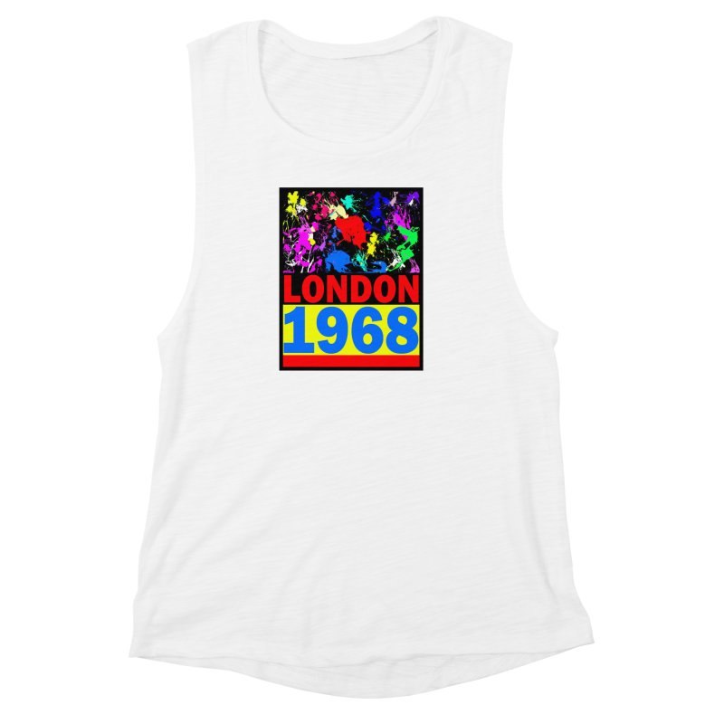 1968 LONDON 2 Women's Muscle Tank by THE ORANGE ZEROMAX STREET COUTURE