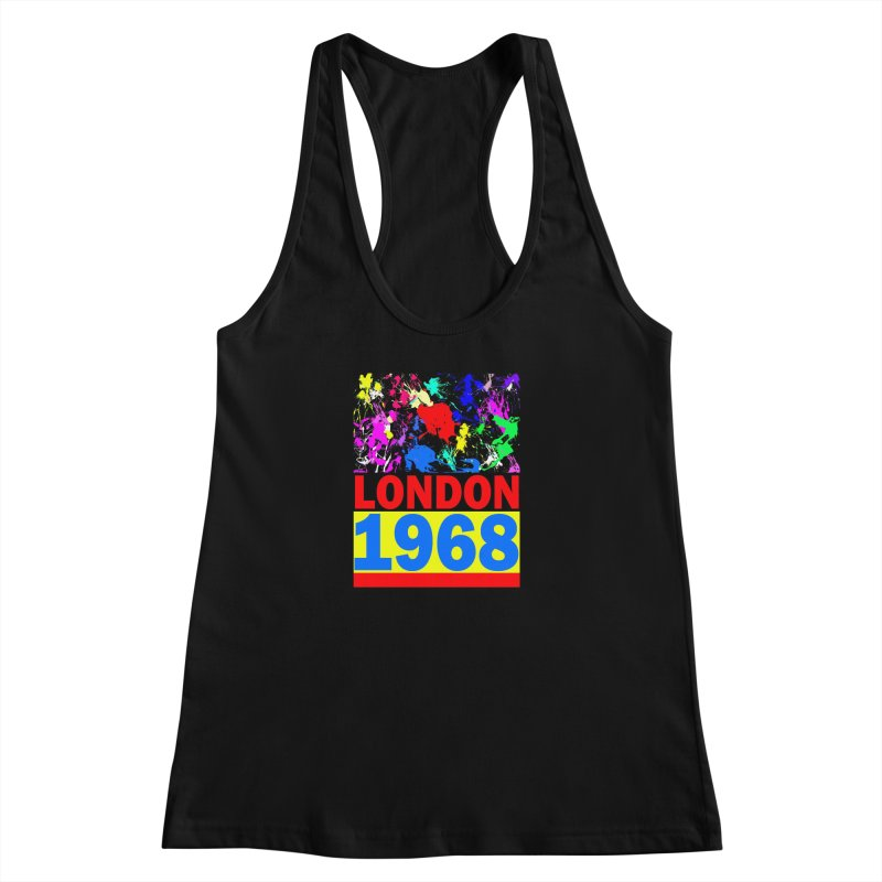 1968 LONDON 2 Women's Racerback Tank by THE ORANGE ZEROMAX STREET COUTURE