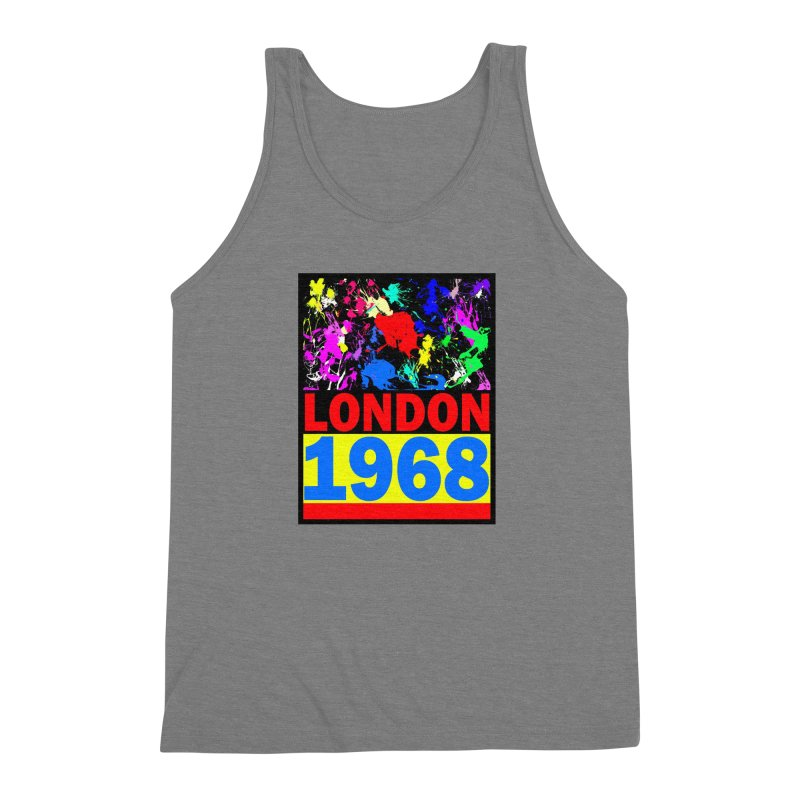 1968 LONDON 2 Men's Triblend Tank by THE ORANGE ZEROMAX STREET COUTURE