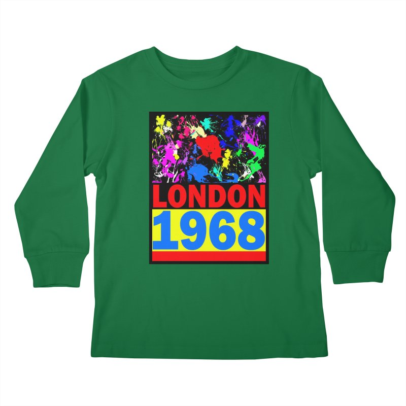 1968 LONDON 2 Kids Longsleeve T-Shirt by THE ORANGE ZEROMAX STREET COUTURE