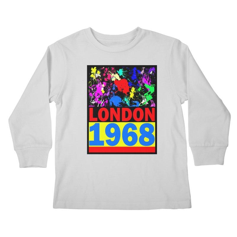 1968 LONDON 2 Kids Longsleeve T-Shirt by THE ORANGE ZEROMAX STREET COUTURE