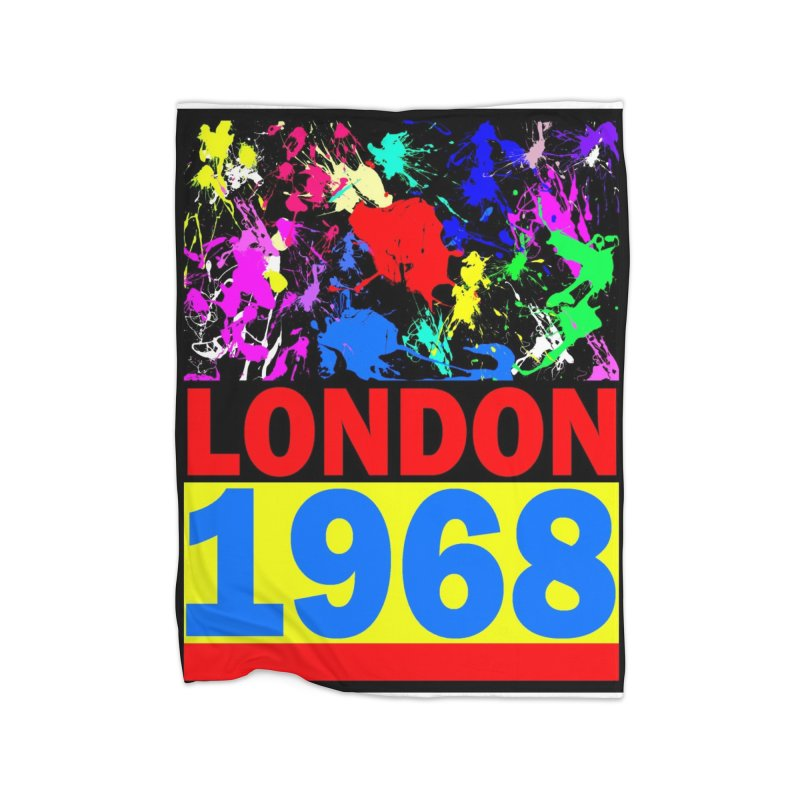 1968 LONDON 2 Home Blanket by THE ORANGE ZEROMAX STREET COUTURE