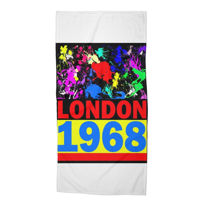 1968 LONDON 2 Accessories Beach Towel by THE ORANGE ZEROMAX STREET COUTURE