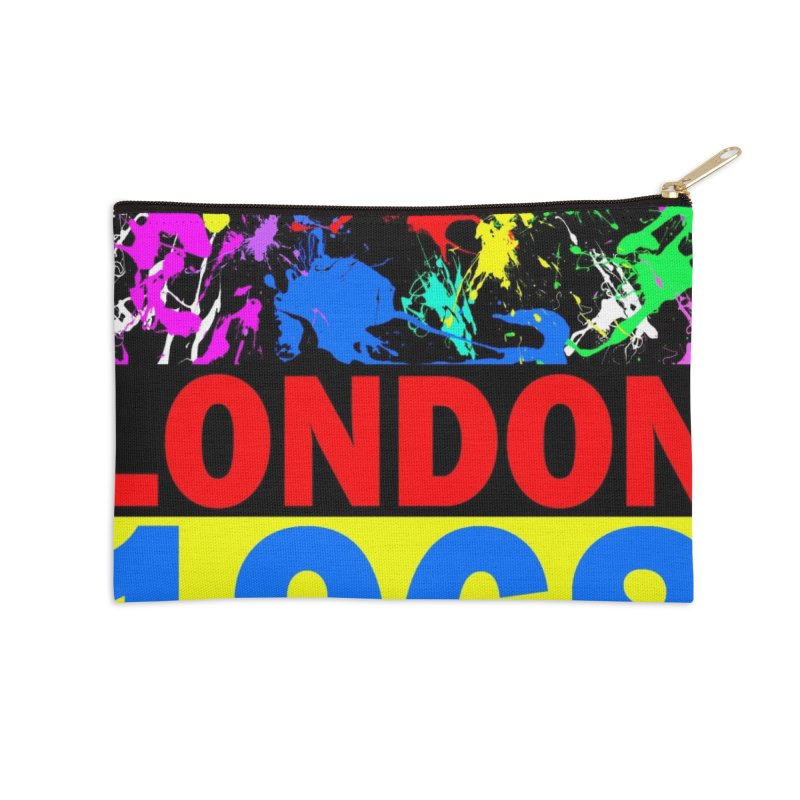 1968 LONDON 2 Accessories Zip Pouch by THE ORANGE ZEROMAX STREET COUTURE