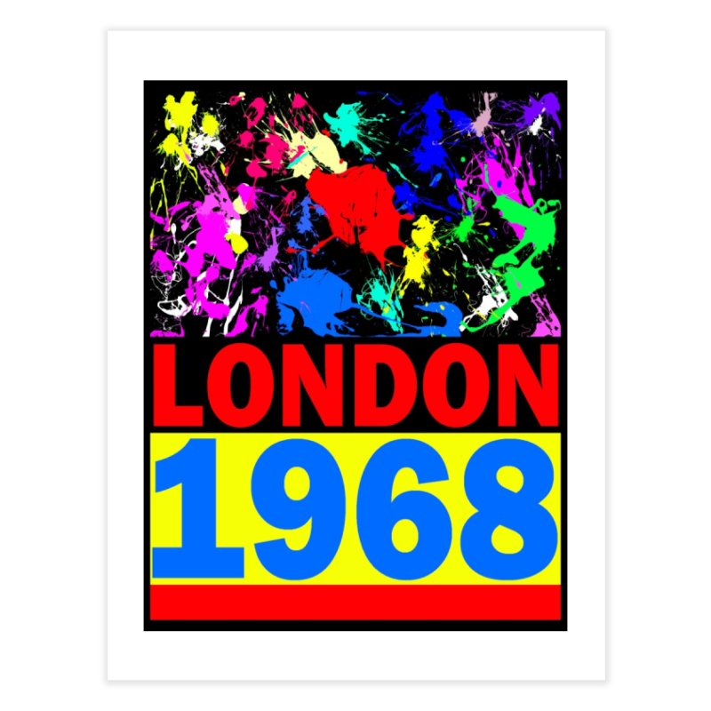 1968 LONDON 2 Home Fine Art Print by THE ORANGE ZEROMAX STREET COUTURE