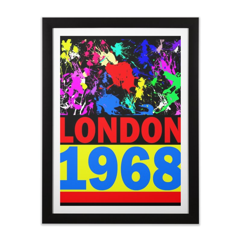 1968 LONDON 2 Home Framed Fine Art Print by THE ORANGE ZEROMAX STREET COUTURE