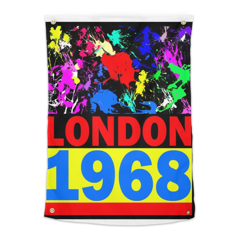 1968 LONDON 2 Home Tapestry by THE ORANGE ZEROMAX STREET COUTURE