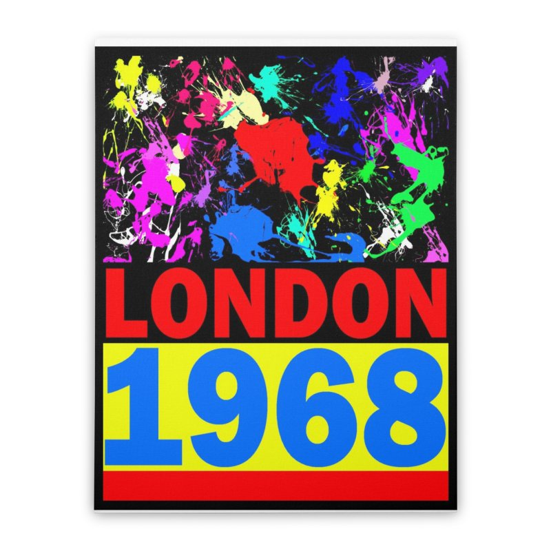 1968 LONDON 2 Home Stretched Canvas by THE ORANGE ZEROMAX STREET COUTURE