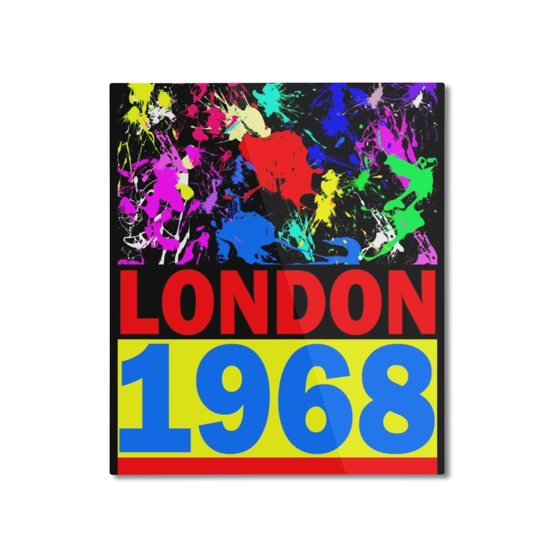 1968 LONDON 2 Home Mounted Aluminum Print by THE ORANGE ZEROMAX STREET COUTURE