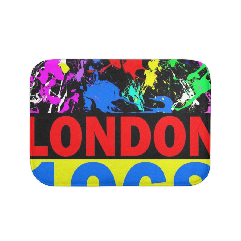 1968 LONDON 2 Home Bath Mat by THE ORANGE ZEROMAX STREET COUTURE
