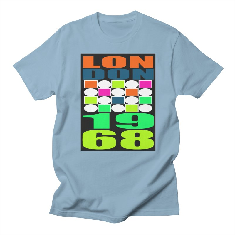 1968 LONDON in Men's Regular T-Shirt Light Blue by THE ORANGE ZEROMAX STREET COUTURE