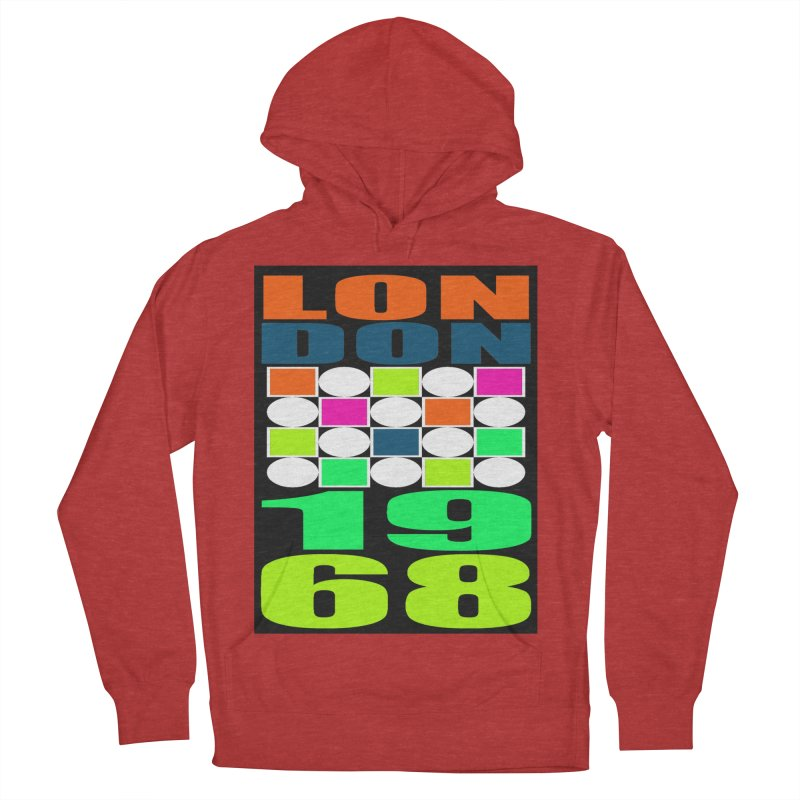 1968 LONDON Women's French Terry Pullover Hoody by THE ORANGE ZEROMAX STREET COUTURE