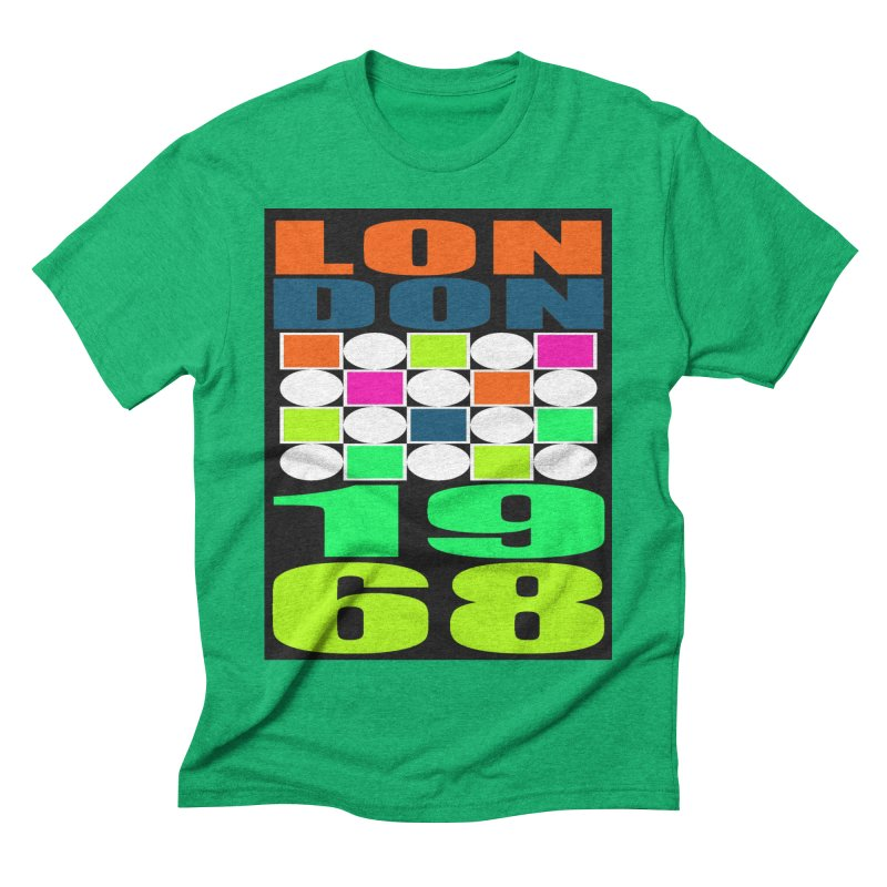 1968 LONDON Men's Triblend T-Shirt by THE ORANGE ZEROMAX STREET COUTURE