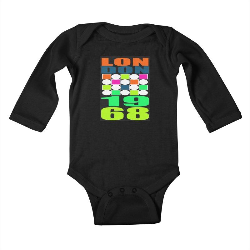 1968 LONDON Kids Baby Longsleeve Bodysuit by THE ORANGE ZEROMAX STREET COUTURE