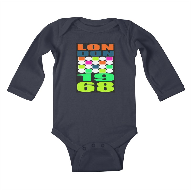 1968 LONDON Kids Baby Longsleeve Bodysuit by THE ORANGE ZEROMAX STREET COUTURE