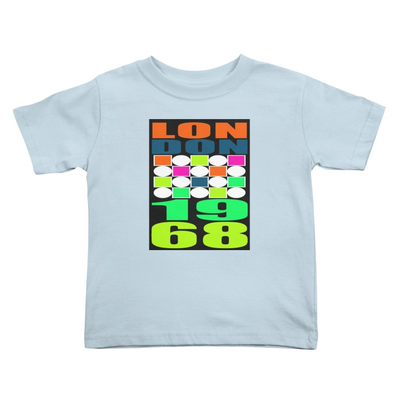 1968 LONDON Kids Toddler T-Shirt by THE ORANGE ZEROMAX STREET COUTURE