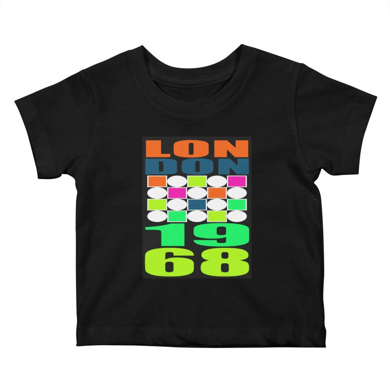 1968 LONDON Kids Baby T-Shirt by THE ORANGE ZEROMAX STREET COUTURE