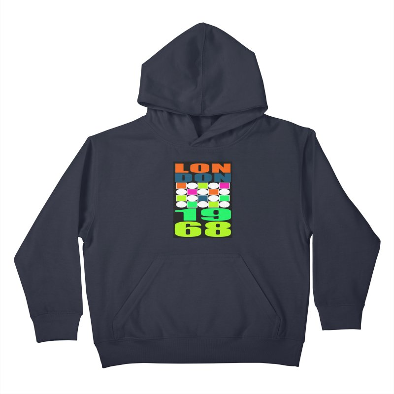 1968 LONDON Kids Pullover Hoody by THE ORANGE ZEROMAX STREET COUTURE