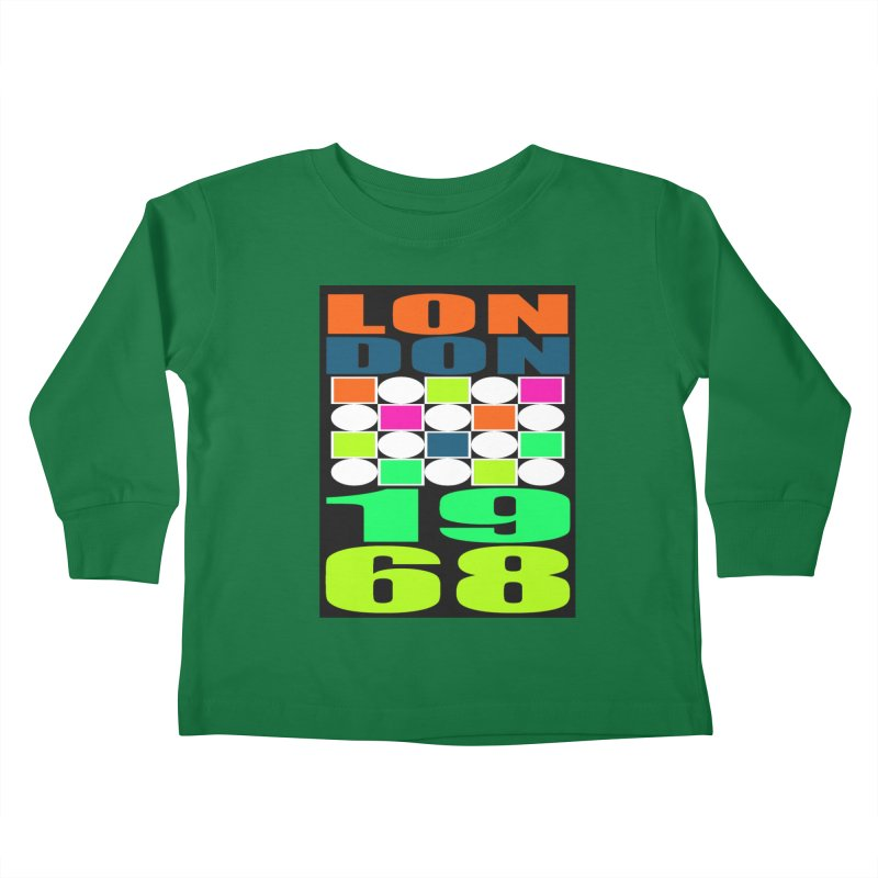 1968 LONDON Kids Toddler Longsleeve T-Shirt by THE ORANGE ZEROMAX STREET COUTURE
